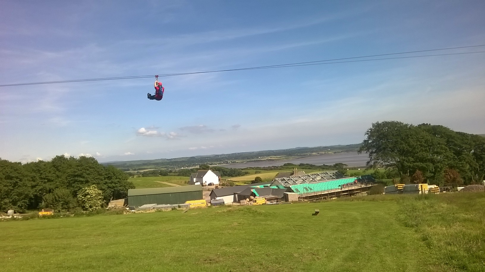 Zip wire at Laggan